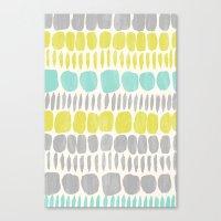 Aqua Blue, Citron Yellow… Canvas Print