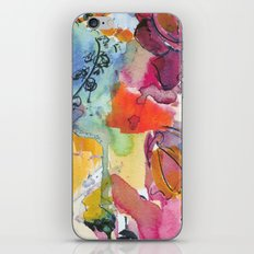 Abstract floral watercolour iPhone & iPod Skin