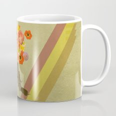 In my world, flowers come out of guns Mug