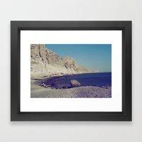 Eros Beach Framed Art Print