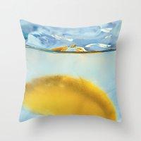 Refreshing Lemon Drink Throw Pillow