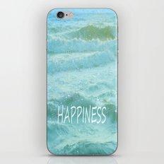 HAPPINESS. Vintage beach iPhone & iPod Skin