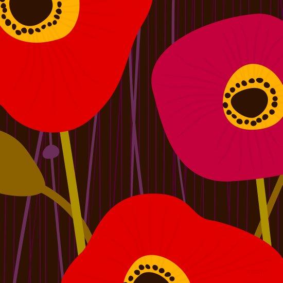 Red Poppy Flowers by Friztin Art Print