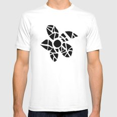 Mosaic Flower White Mens Fitted Tee SMALL