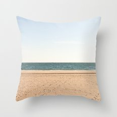 Sand, sea, sky Throw Pillow
