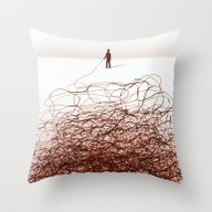 Drawn With A Stick Throw Pillow