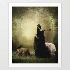 Maiden of the forest Art Print