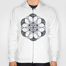 Geometric Sacred Geometry Flower of Life Pattern Mandala Hoody
