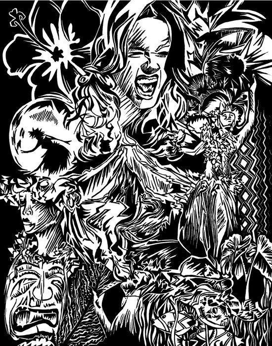 Pele, Volcano Goddess Art Print