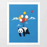 Flying Panda Art Print