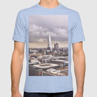 Skyline Mens Fitted Tee Tri-Blue SMALL