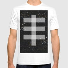 Double drop SMALL White Mens Fitted Tee