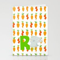R For Rabbit Stationery Cards