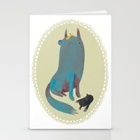 dog Stationery Cards featuring dog by yohan sacre