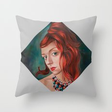 Red-Haired Throw Pillow