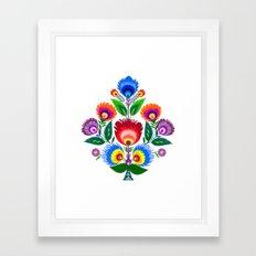 folk flowers ornament  Framed Art Print