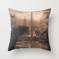 Old Ships Throw Pillow