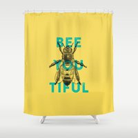 Bee-you-tiful Shower Curtain