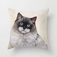 Mr. Ragdoll Cat Throw Pillow