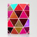 Geodesic 4 Stationery Cards