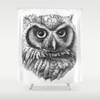 Intense Owl G137 Shower Curtain