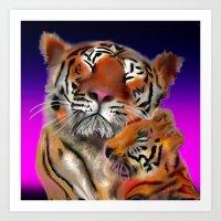 Tiger Tiger Burning Brig… Art Print
