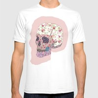 Liberty Skull Mens Fitted Tee White SMALL