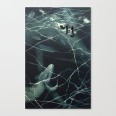 Casual Fishing Canvas Print