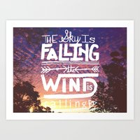 The Sky Is Falling, The … Art Print
