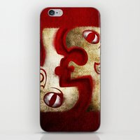 Red Digital Engraving Tw… iPhone & iPod Skin