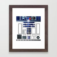 Shiny New Droid Framed Art Print