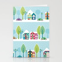 Ski House Stationery Cards