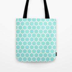 Honeycomb Tiffany Blue Tote Bag
