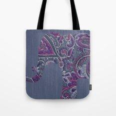 Paisley Elephant Tote Bag