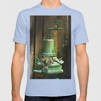 Organic Machine of Time Mens Fitted Tee Tri-Blue SMALL