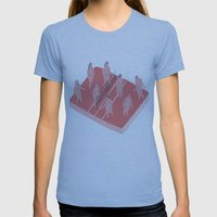 structure Womens Fitted Tee Athletic Blue SMALL