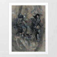 The Black Leopard Art Print