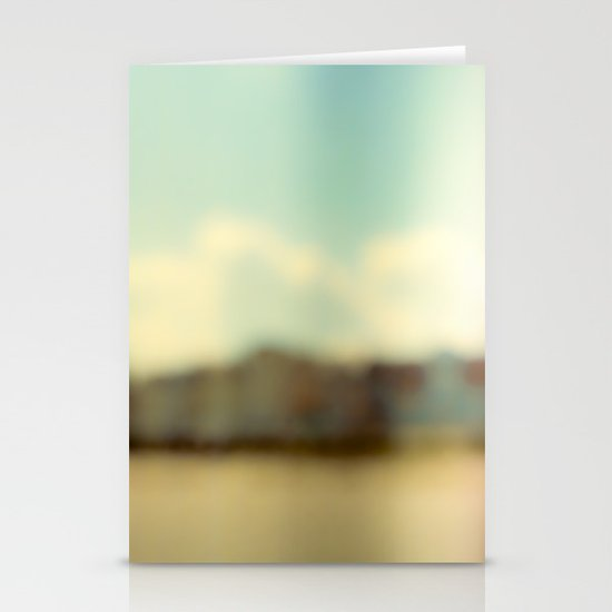 Blurry Beach Houses  Stationery Card