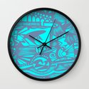 INK#5 Above the Waves Wall Clock