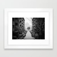Snowy Day, Kyoto Framed Art Print