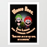 Super Mario Bros. Drain … Art Print