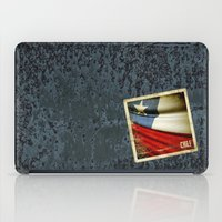 Chile grunge sticker flag iPad Case