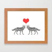 Foxes. Framed Art Print