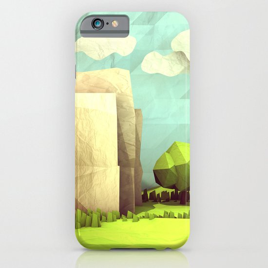 Paper Landscape iPhone & iPod Case