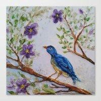 Bluebird of Happiness 2 Canvas Print