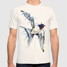 My Swallow Mens Fitted Tee Natural SMALL