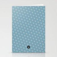 U13: blue droplet Stationery Cards