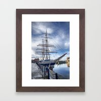 Tall ship Stavros S Niarchos Framed Art Print