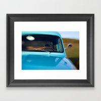 Cruise Blue Framed Art Print