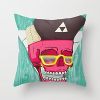 Hell Yeah Skull 2 Throw Pillow